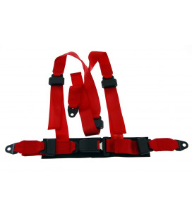 "Racing seat belts 3p 2"" Red - Monza"