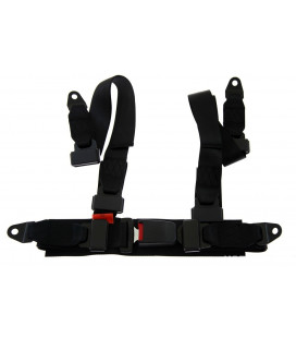 "Racing seat belts 4p 2"" Black - Monza"
