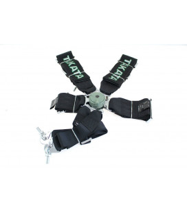 "Racing seat belts 6p 3"" Black - Takata Replica"