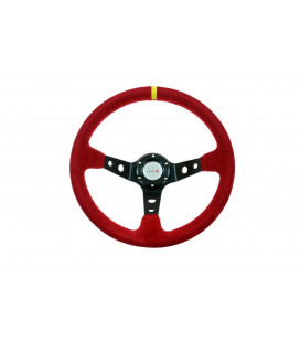 Steering wheel Pro 350mm offset:80mm Suede Red