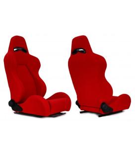 Racing seat DRAGO RED material