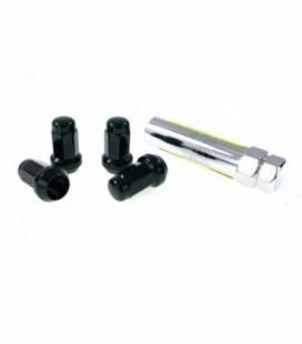 Racing anti-theft lug nuts D1Spec Stal 12x1.25 Black