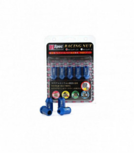 Racing lug nuts D1Spec Alu 12x1.25 blue