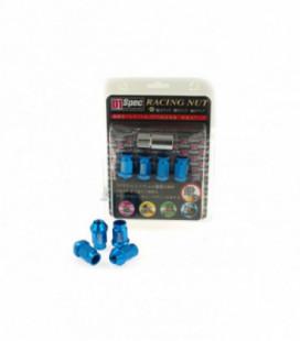 Racing Lug Nuts D1SPEC Replica 40mm M12x1.25 Blue