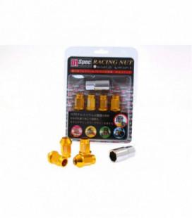 Racing Lug Nuts D1SPEC Replica 40mm M12x1.25 Gold