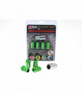 Racing Lug Nuts D1SPEC Replica 40mm M12x1.25 Green