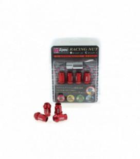 Racing Lug Nuts D1SPEC Replica 40mm M12x1.25 Red