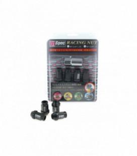 Racing Lug Nuts D1SPEC Replica 40mm M12x1.5 Black