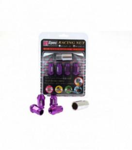 Racing Lug Nuts D1SPEC Replica 40mm M12x1.5 Purple