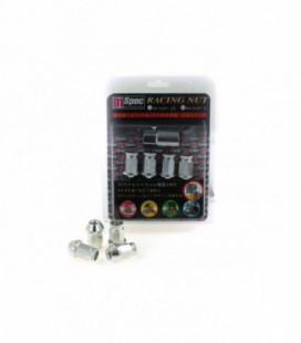 Racing Lug Nuts D1SPEC Replica 40mm M12x1.5 Silver