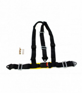 "Racing seat belts 3p 2"" Black - E4"