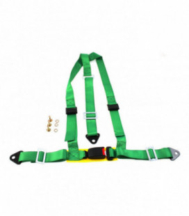 "Racing seat belts 3p 2"" Green - E4"