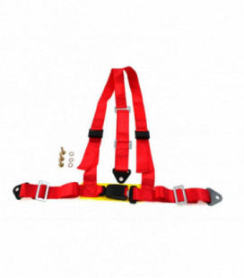 "Racing seat belts 3p 2"" Red - E4"
