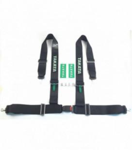 """Racing seat belts 4p 2"""" Black - Takata Replica"""