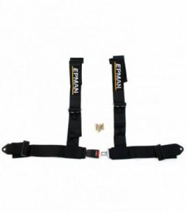 "Racing seat belts 4p 3"" EPMAN Black"