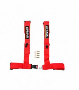 """Racing seat belts 4p 3"""" EPMAN Red"""