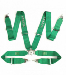 "Racing seat belts 4p 3"" Green - Takata Replica harness"