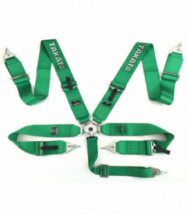 "Racing seat belts 5p 3"" Green - Takata Replica harness"