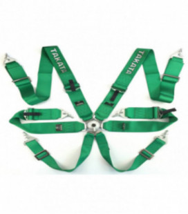 "Racing seat belts 6p 3"" Green - Takata Replica harness"