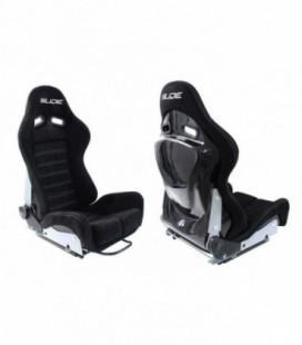 Racing seat SLIDE X3 suede Black M
