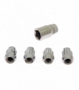 Racing wheel lug lock nuts M12x1.5mm