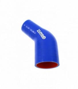 Reduction silicone elbow 45deg TurboWorks Pro Blue 51-63mm