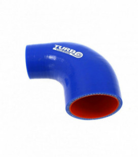 Reduction silicone elbow 90deg TurboWorks Pro Blue 25-38mm