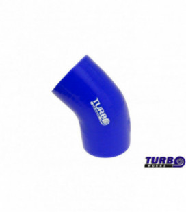 Reduction silicone elbow TurboWorks Blue 45deg 63-76mm
