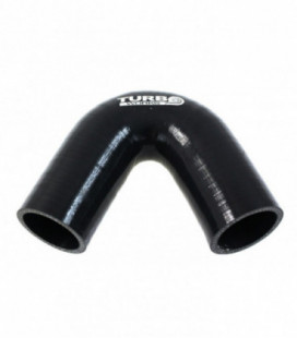 Silicone elbow 135st TurboWorks Black 12mm
