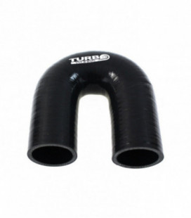 Silicone elbow 180st TurboWorks Black 76mm
