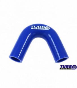 Silikoninė alkunė TurboWorks mėlyna 135 laipsnių 32mm