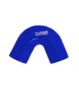 Silikoninė alkunė TurboWorks mėlyna 135 laipsnių 60mm