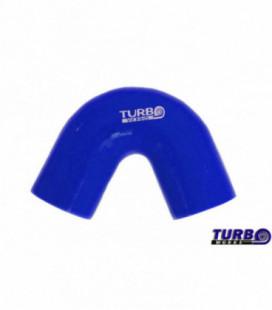 Silikoninė alkunė TurboWorks mėlyna 135 laipsnių 76mm