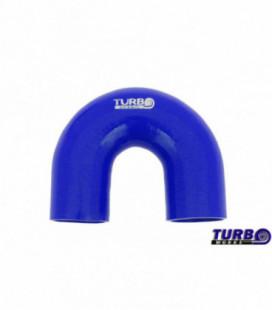 Silicone elbow TurboWorks Blue 180deg 70mm