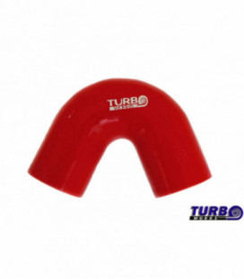 Silicone elbow TurboWorks Red 135deg 57mm