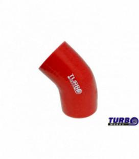 Silikoninė alkunė TurboWorks raudona 45 laipsnių 102mm