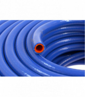 Silicone vacuum braided hose TurboWorks PRO blue 18mm