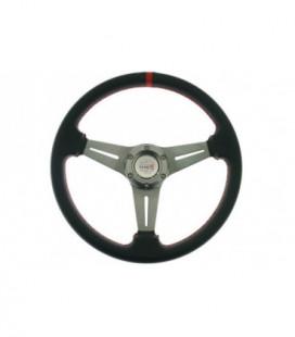 Sportinis vairas Pro 350mm išnešimas:20mm Carbon (raudonas)