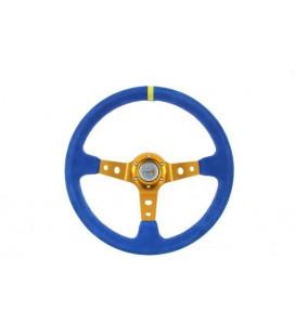 Steering wheel Pro 350mm offset:80mm Suede Blue